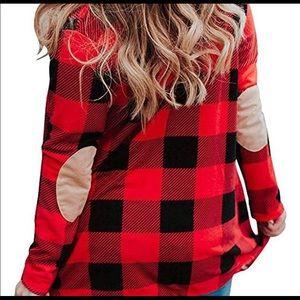 Sweaters - Jane Red Buffalo Plaid Cardigan Sweater XXL 2X